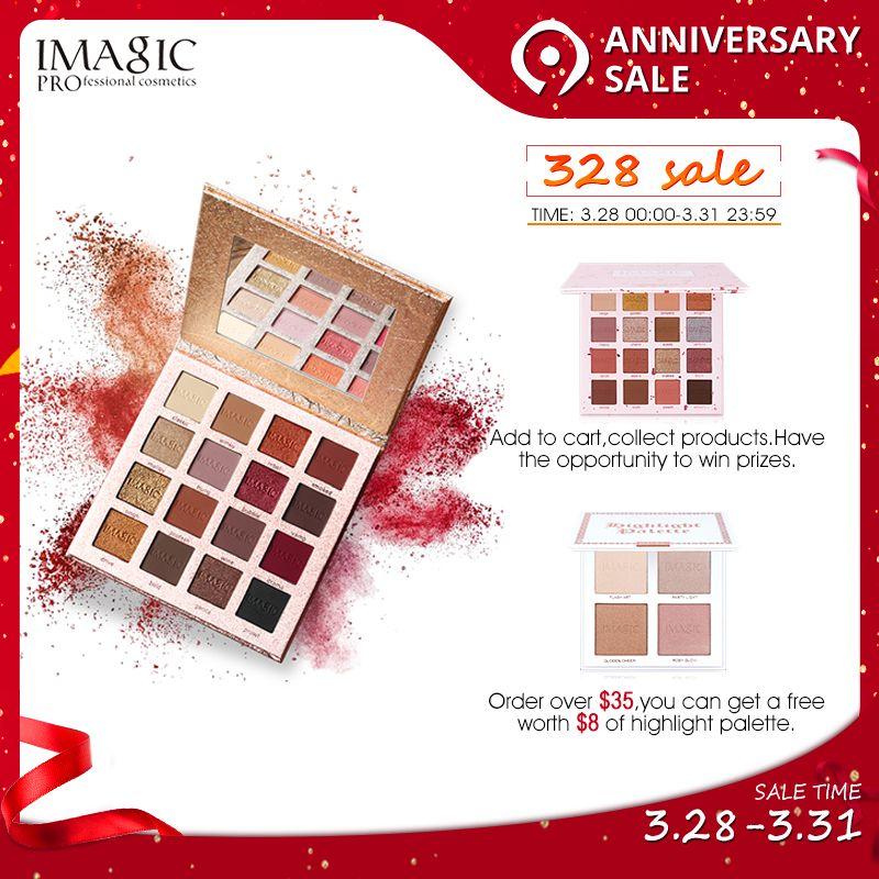 IMAGIC nouveauté Charme Fard À Paupières 16 palette de couleurs palette à maquillage Mat Shimmer Les Yeux Pigmentés ombre à paupière