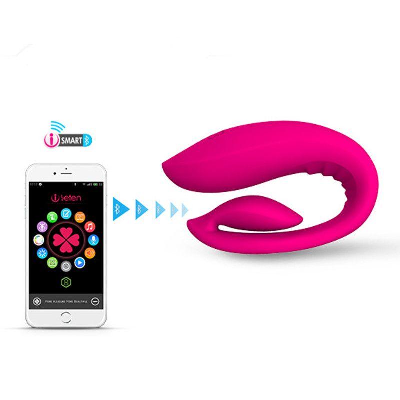 Leten Smartphone App Télécommande recharge vibrateurs G spot clitoris stimulateur jouets adultes de sexe pour Les Couples sex machine.