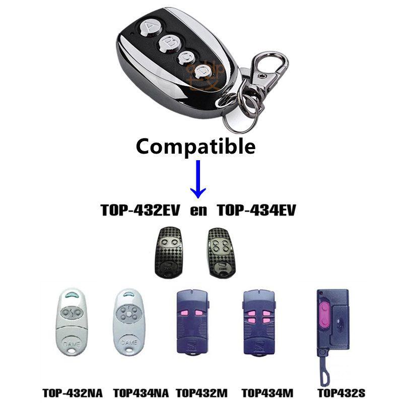 433.92 Mhz télécommande duplicateur copie CAME TOP 432na 432ev 432 M 432ee 434na clonage pour porte de Garage universelle porte clé Fob