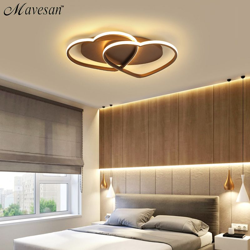 Led Chandelier Ceiling Lamp Modern Lighting Plafondlamp Heart-shaped Light for Living Room Bedroom Restaurant Bathroom 85v-260v