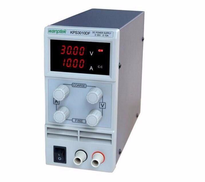 wanptek kps3010df 0-30V/0-10A 110V-230V 0.1V/0.001A EU LED Digital Adjustable Switch DC Power Supply mA display variable