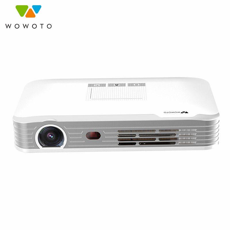 WOWOTO Projektor 1080 P Auflösung Wi-Fi Bluetooth 600 Ansi LED Tragbare HD Beamer für Heimkino Elektrische fokussierung T8e