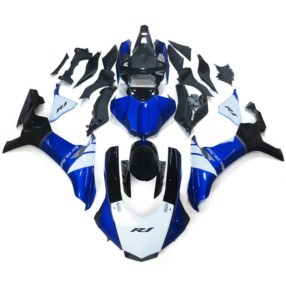Blue White Black ABS Injection Motorcycle Fairings For Yamaha YZF R1 15 16 YZF-R1 2015 2016 Full Fairing Kit Cowlings Carene New