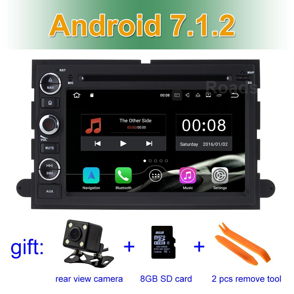 2 GB RAM Android 7.1.2 Car DVD Player for Ford 500/F150/Explorer/Edge/Expedition/Mustang/fusion/Freestyle Wifi BT Radio GPS