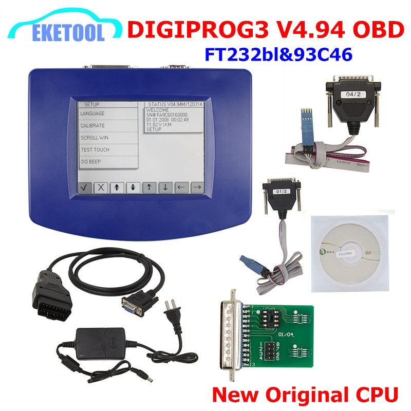 FTDI FT232RL 93C46 Digiprog 3 V4.94 Entfernungsmesser-programmierer Digiprog III OBD Kabel Mit ST01 ST04 Multi-sprache Digiprog3 OBD