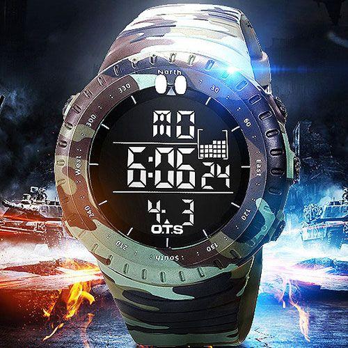2018 Военная Униформа спортивные часы Для мужчин лучший бренд класса люкс электронной цифровой светодиодный наручные часы мужской часы для Д...