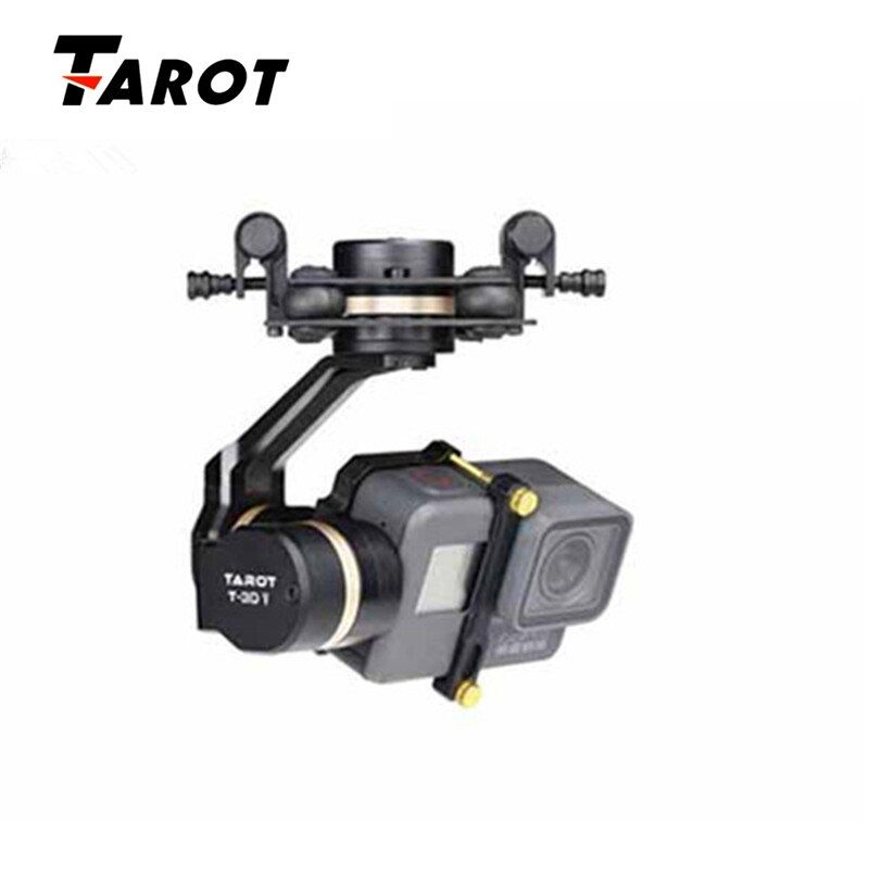 High Quality Tarot TL3T05 for Gopro 3DIV Metal 3-Axis Brushless Gimbal PTZ for Gopro Hero 5 for FPV System Action Sport Camera