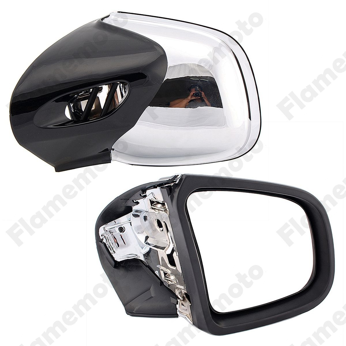 Motorcycle Bike Parts Rearview Side Mirrors Left & Right For BMW K1200 LT 1999 2000-2004 2005 2006 2007 2008 UNDEFINED Chrome