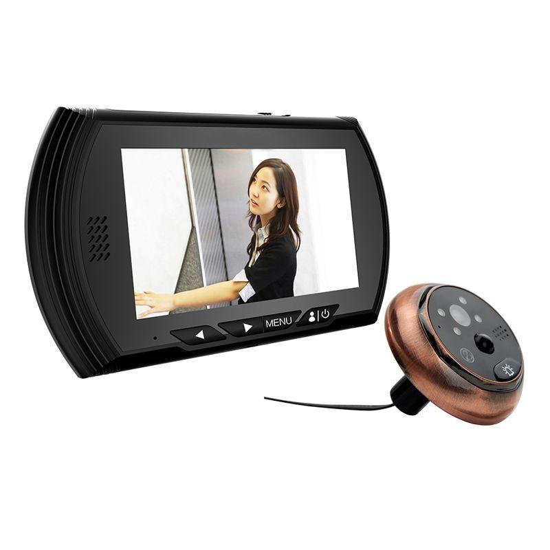 4.3 pouces Smart numérique porte visionneuse caméra porte oeil vidéo enregistrement judas téléspectateurs IR Vision nocturne PIR mouvement pas déranger sonnette