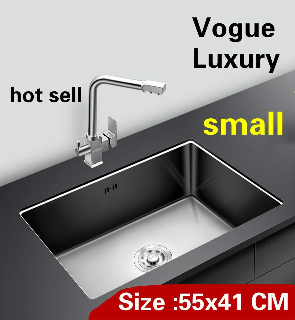 Free shipping Apartment kitchen manual sink single trough do the dishes standard 304 stainless steel hot sell small 550x410 MM