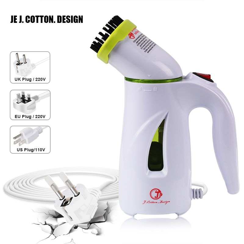 Portable Garment Steamer For Clothes Vertical Steam Iron Ironing with Brush <font><b>Handheld</b></font> Fabric Steamers Clean Machine EU US UK Plug