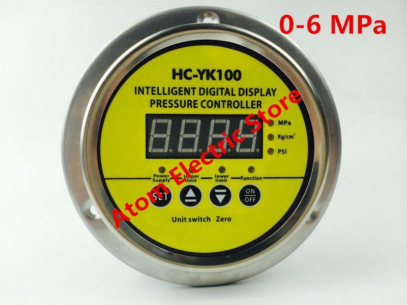 0-6 mpa  AC220V  Digital display electric contact pressure gauge digital controller