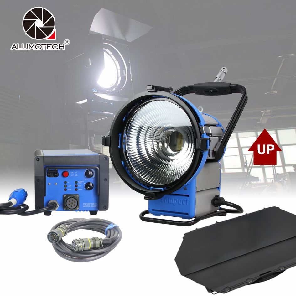 ALUMOTECH Upgraded Pro Film HMI M18 Par Light+1800W&1200W Electronic Ballast Flicker-Free+7m Cable