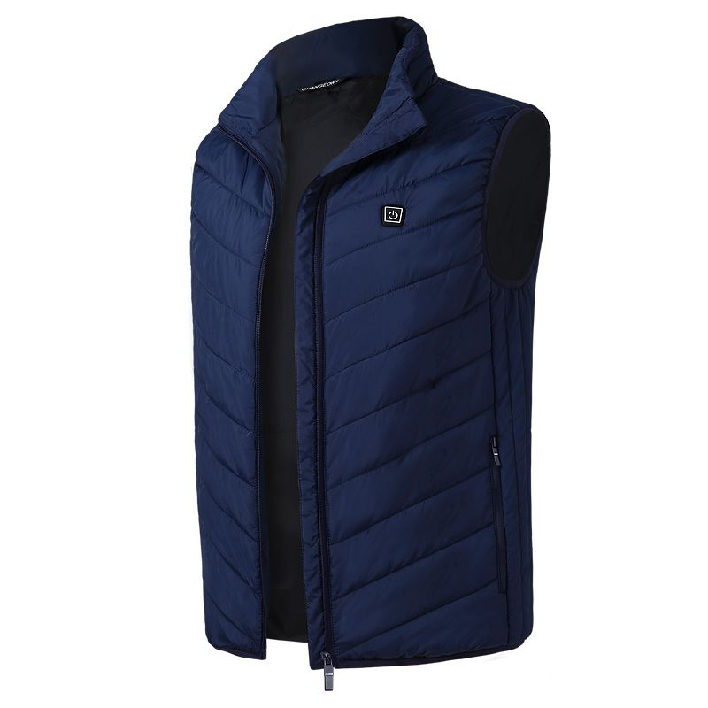 Toppick 2018 Solid Electric Heated Vest Men&Women Heating Waistcoat Thermal Warm Clothing Feather Hot Sale Winter Heated Jacket
