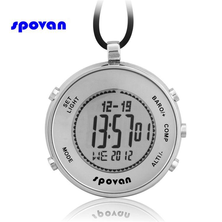 Spovan Для мужчин S Часы Лидирующий бренд Роскошные карманные часы барометр альтиметр Компасы Мониторы 28 мировое время цифровой Спорт часы Для...