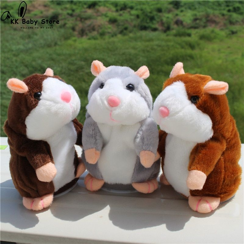 Genius Talking Hamster Electronic Pet Plush Toy Repeat What You Say Educational Talking Stuffed Animal Toys for Children