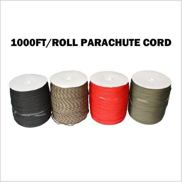 Corde de lanière de corde de Parachute de 1000Ft 550 Paracord Mil spécifications Type III noyau de 7 brins 300 mètres