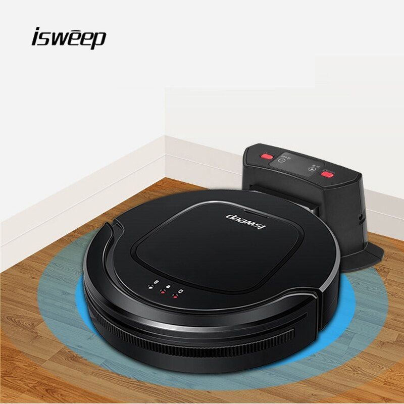 Isweep Robot Vacuum Cleaner for Home Appliances 1000PA Automaticly Charging Dry and Self-Charge Wet Mopping Smart Sweeper S550