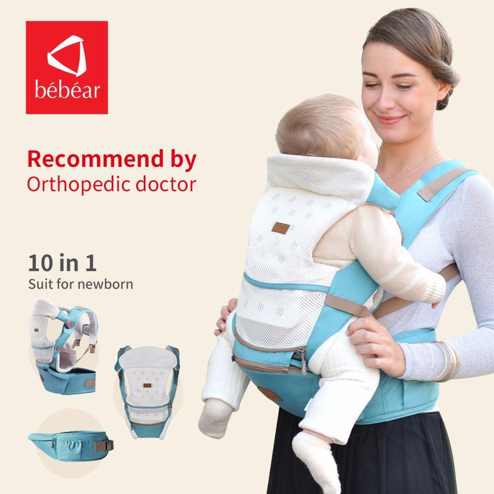 Bebear neue hipseat für neugeborene und verhindern o-typ beine 6 in 1 tragen stil belastung tragen 20 kg ergonomische baby carriers kid sling