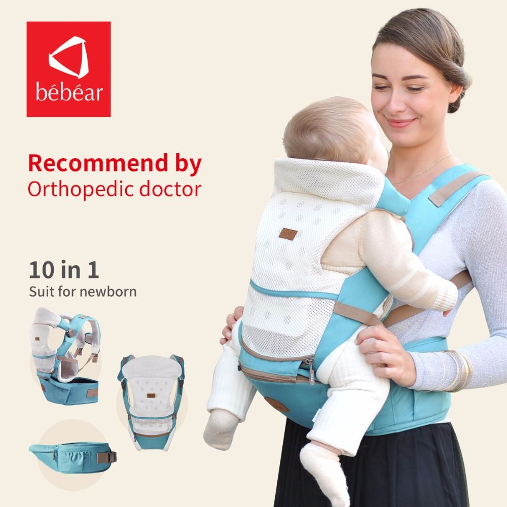 Bebear new hipseat for newborn and prevent o-<font><b>type</b></font> legs 6 in 1 carry style loading bear 20Kg Ergonomic baby carriers kid sling