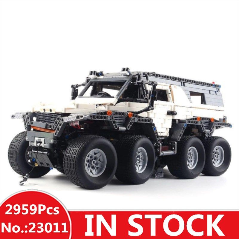 H&HXY 23011 2959Pcs Technic Series Off-road vehicle Model Building Kits Block Bricks Compatible Toys boy brithday gifts lepin