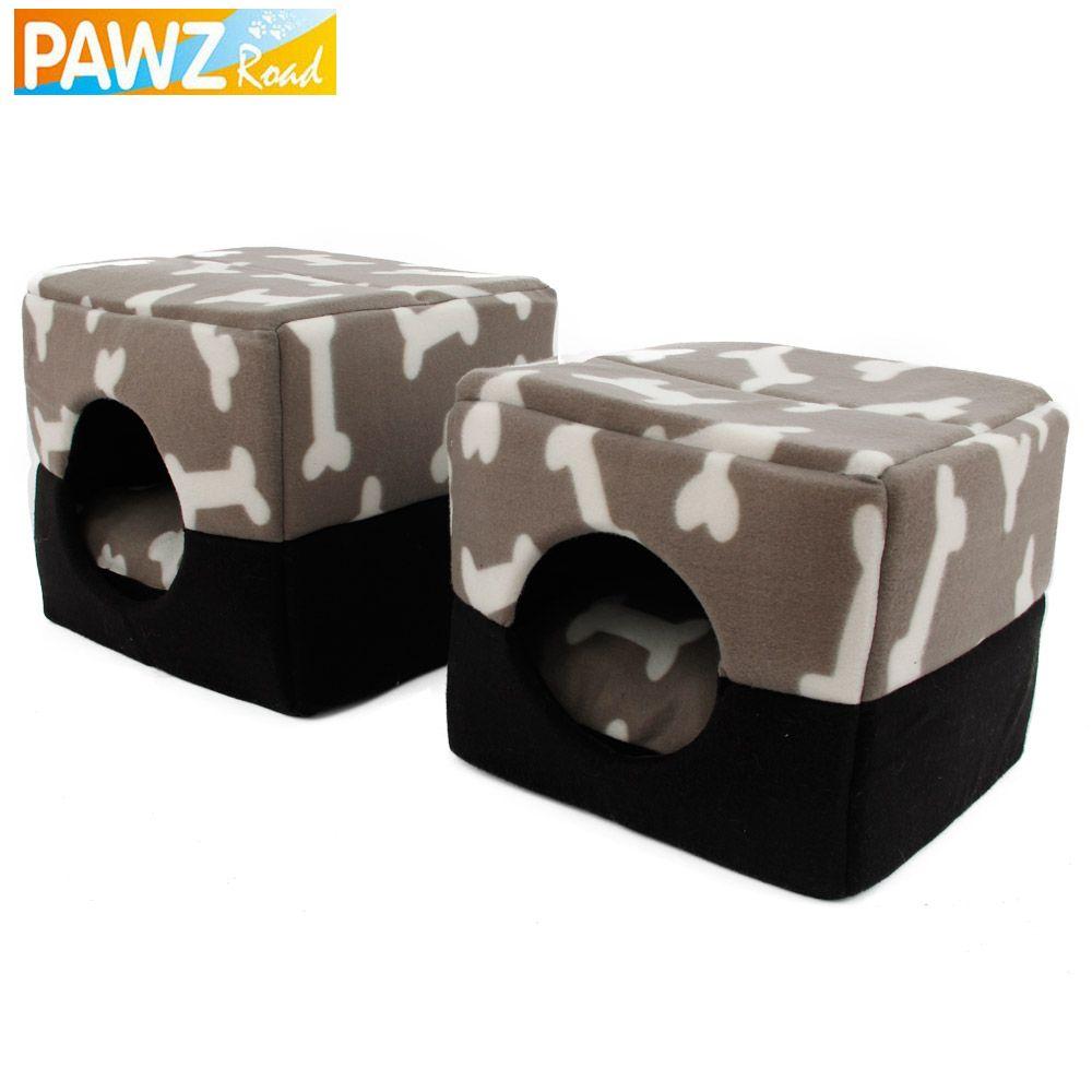 PAWZRoad Pet chien maison chenil os motif chien canapé doux chaud Pet drôle lit chien coussin chiot canapé 3 façons utilisation de haute qualité