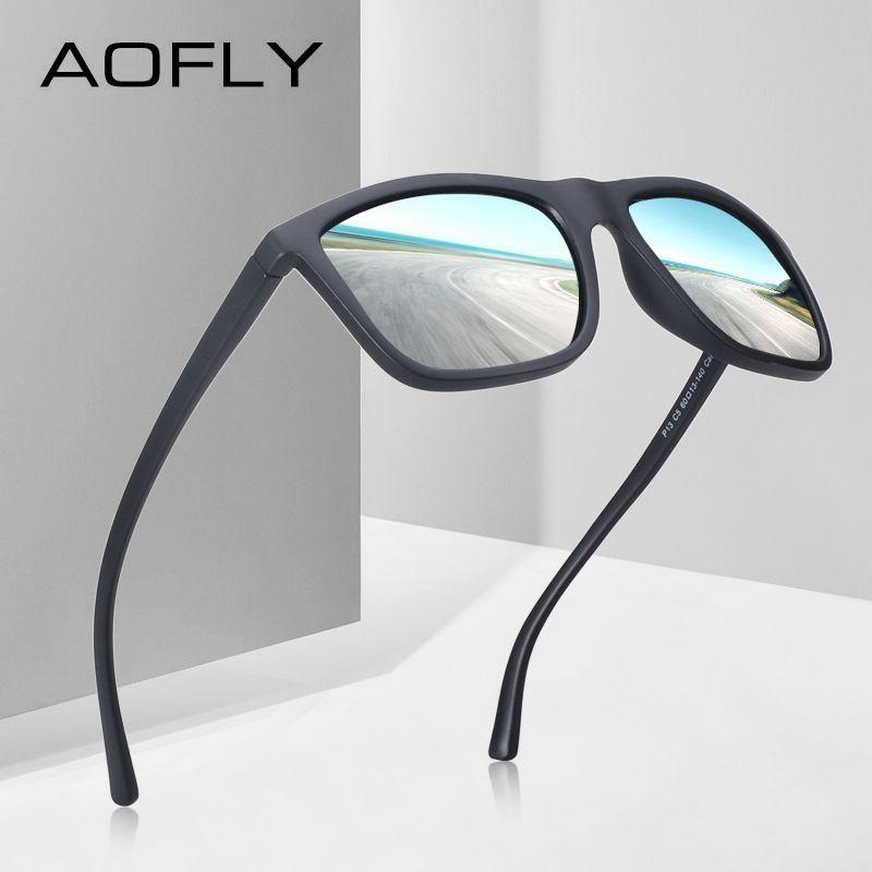 AOFLY MARKE DESIGN Polarisierte Sonnenbrille Männer Männlich Kühlen Sonnenbrille für Fahr TR90 Brille Brillen Gafas De Sol UV400 AF8088