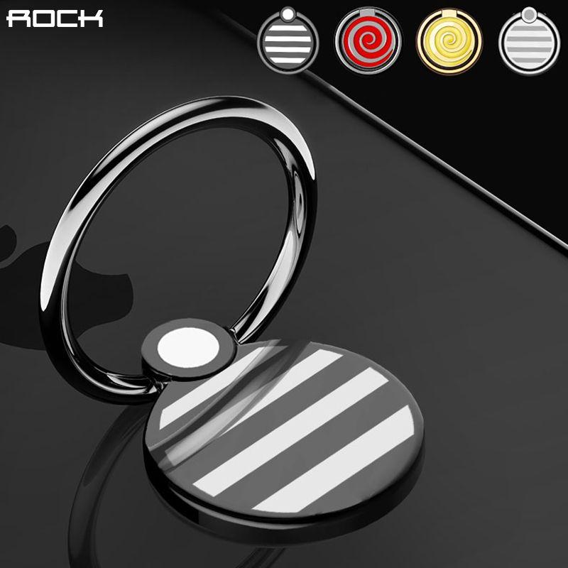 Универсальный металлическое кольцо держатель, rock Slim сплав кольцо держатель Красочные 360 Вращение палец кольцо держатель подставка для iPhone 7...