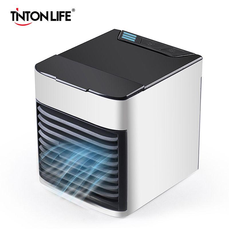 Tragbare Klimaanlage USB Mini Luftkühler Befeuchter-reinigungsapparat Bunte LED Licht Fan Luftkühlung Fan für Office Home