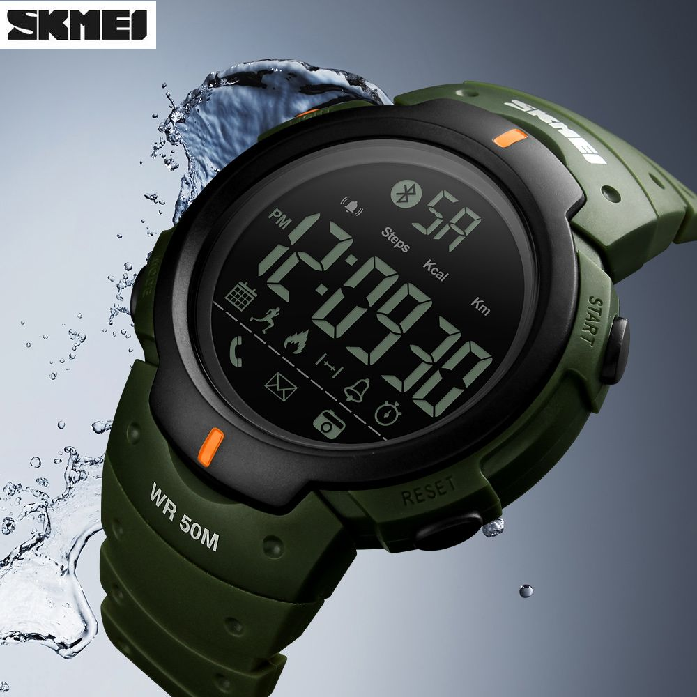 Smart Watch SKMEI Bluetooth Pedometer Calorie Remote <font><b>Camera</b></font> Digital Wristwatches Fashion Sport Smartwatch For iPhone Android