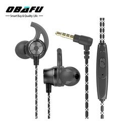 OBAFU Strong Bass Earphones Stereo Sound Aluminum Alloy Earbuds With Microphone For iPhone Headset auriculares audifones