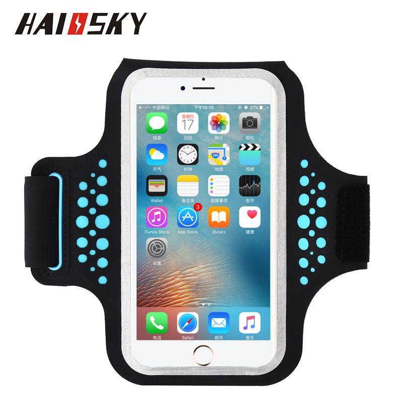 HAISSKY Course à Pied Brassard Pour iPhone X 8 7 6 6 s Plus Écran Tactile de Bande de Bras Pour Samsung galaxy S8 S9 Plus Xiao mi mi 8 7