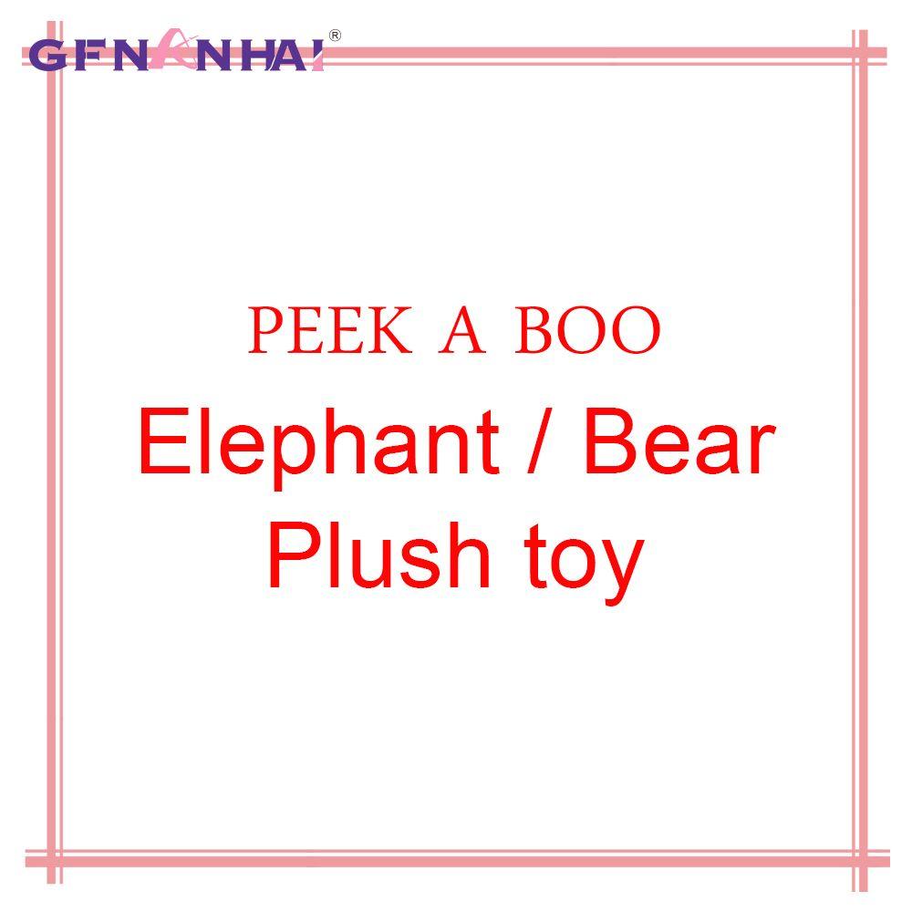 1pc Peek A Boo électrique éléphant/ours animaux en peluche jouets en peluche musique poupée éléphant jouet interactif pour enfants bébé