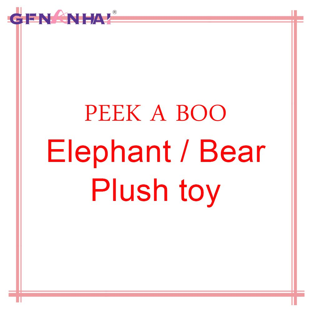 play music elephant/bear plush toy