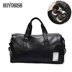 HOYOBISH корейский стиль мужские дорожные сумки Водонепроницаемые кожаные сумки сумка на плечо для женщин большая емкость выходные сумки OH301