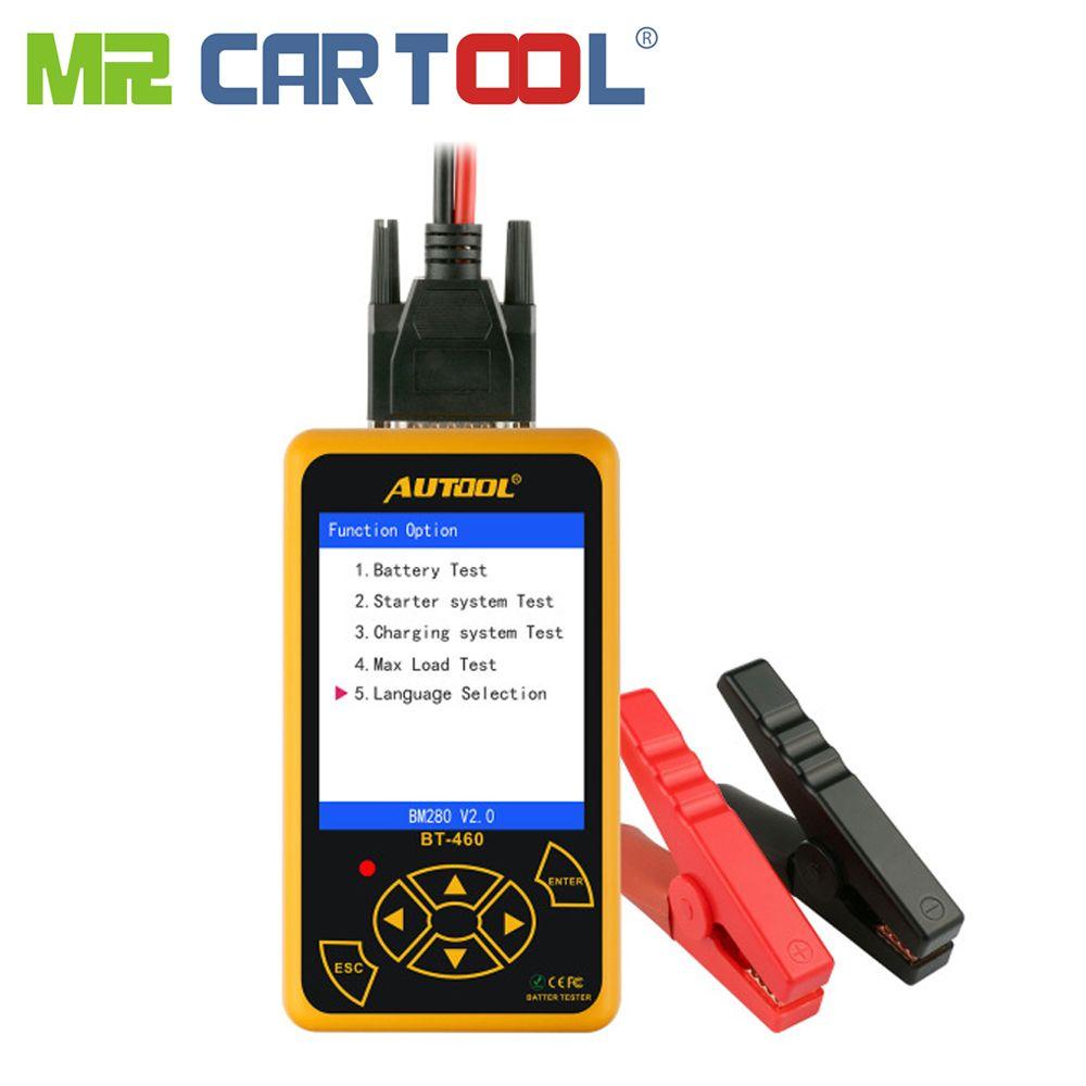 Mr Cartool BT460 Auto Batterie Tester 12V 24V Zell Analyzer Fahrzeug Diagnose Tool Fahrzeug Blei-säure AGM TFT CCA Bunte Display