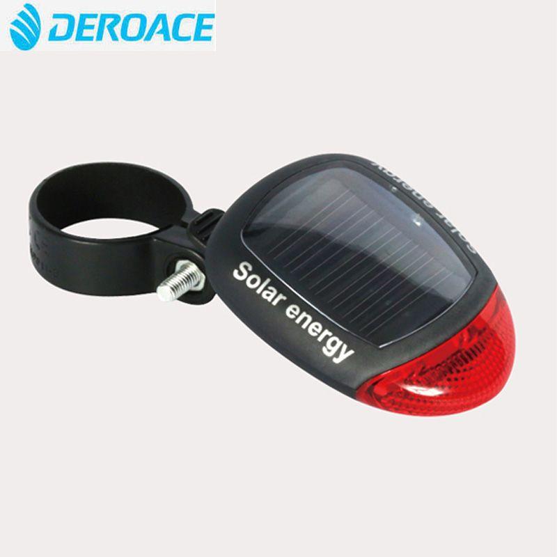 DEROACE Wasserdichte Solar Power Fahrrad Hinten 3 Modus Licht Lampe Sicherheit Warnung Fahrrad Sicherheit rücklicht Lampe Fahrrad Licht