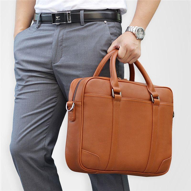 Nesitu Schwarz Braun Echtes Leder Büro Männer Aktentasche Messenger Bags Echt Haut Business Reisetasche 14 ''Laptop Portfolio M7349