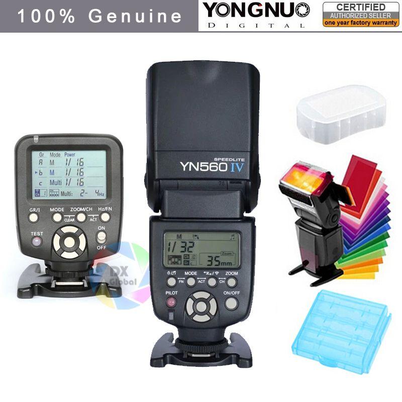 Yongnuo YN560IV YN560 IV YN 560 Flash Speedlite pour Canon Nikon avec déclencheur Flash YongNuo 560TX
