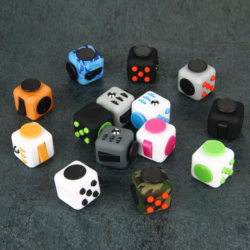 Do Dower Fidget Cube Desk EDC Toys Magic Cubes Puzzle Relieve Stress Toys ABS Material VS Fidget Pad Spin for Autism ADHD Kids