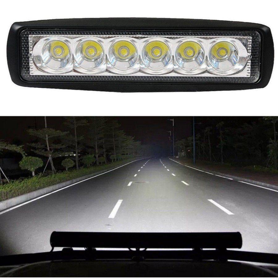 New 18W Flood LED Light Work Bar Lamp Driving Fog Offroad SUV 4WD Car Boat Truck