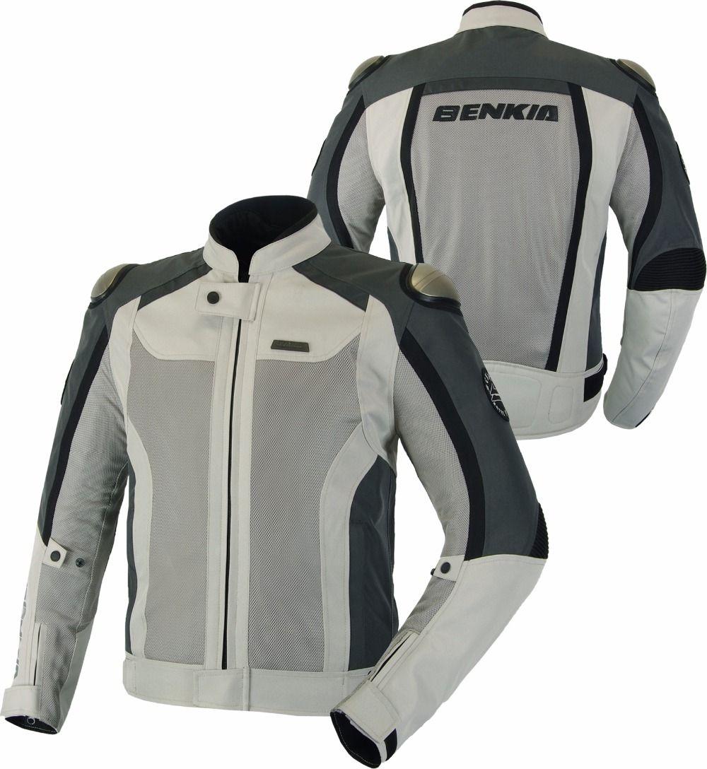 BENKIA Motorcycle Jacket Men Breathable Windproof Moto Jacket Armor Textile Motorbike Street Cruiser Mesh Jacket Rding Clothing