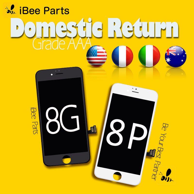 IBee Pièces 10 pcs 100% Test Pour iPhone 8 8 Plus LCD Écran Tactile Avec Digitizer Assemblée Remplacement Parfait Tactile livraison DHL