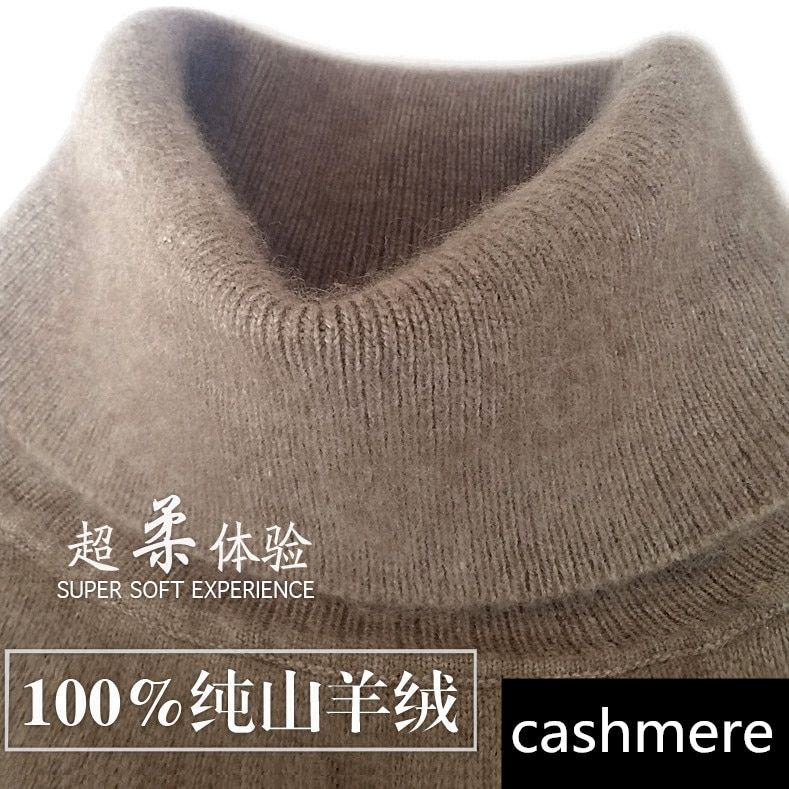 2018 autumn winter <font><b>cashmere</b></font> sweater female pullover high collar turtleneck sweater women solid color lady basic sweater