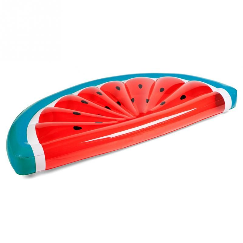 2017 Giant Inflatable Watermelon Pool Float Mattress Sunbathe Beach Mat Air Swimming Ring Swimming Circle Beach Sea Party Toys