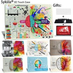 Sykiila para Macbook Air 13 11 caso cerebro Art Print Cover Pro 13 15 12 Retina personalizado hacer Diy Shell pantalla Protector de teclado
