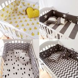 Muslinlife (1 unids parachoques solamente) moda caliente cuna cama infantil, cama de bebé clauds/Star/dot/árbol, protección segura para el uso del bebé