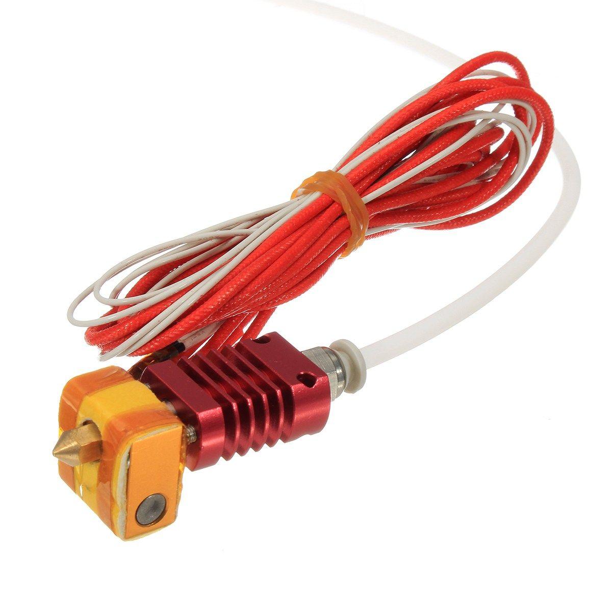 Beste Förderung MK10 12 V/24 V 40 Watt Extruder Hot End Kit 1,75mm 0,4mm Düse Für 3D Drucker