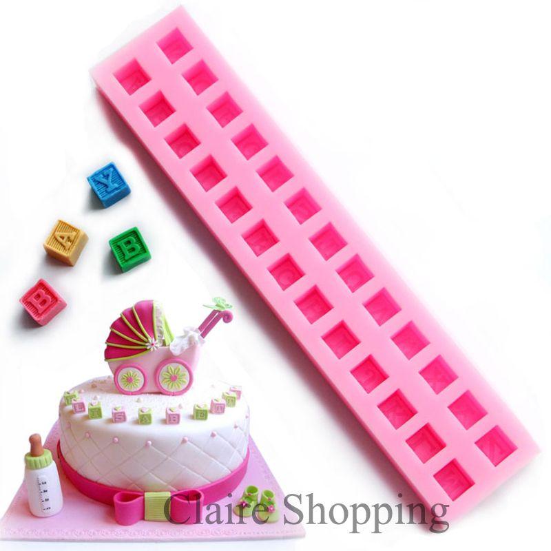 Yueyue Sugarcraft Bébé alphabet bloc silicone moule à cake fondant moule de décoration de gâteau outils chocolat gumpaste moule
