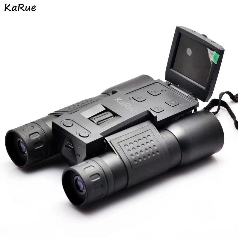 KaRue  FS308 1080P Digital Camera 2.0 inch 5MP Zoom 12x32 Binocular Camcorder Telescope lens s  microSD / TF black free shipping